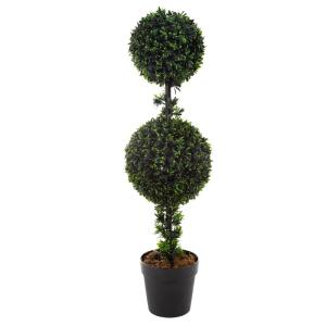 36 in. Artificial Double Ball Podocarpus Topiary