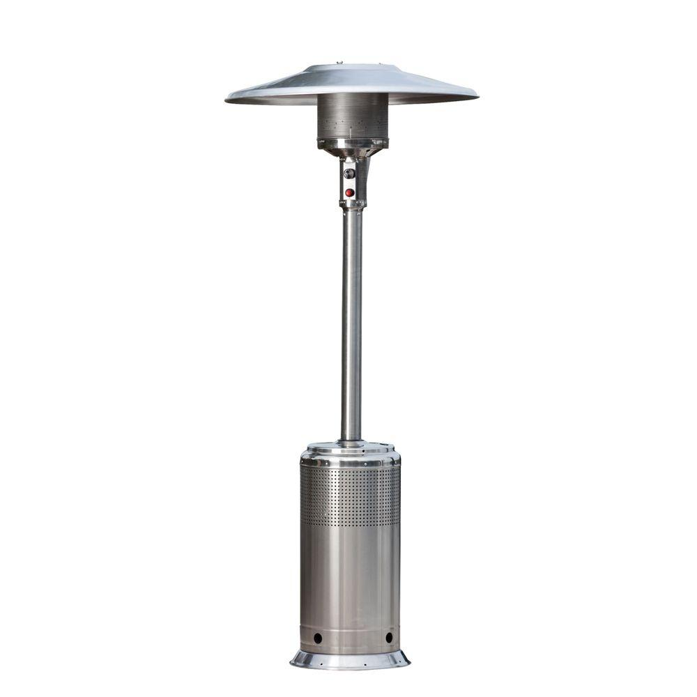 Fire Sense Pro Series 46,000 BTU Stainless Steel Propane Gas Patio Heater-DISCONTINUED