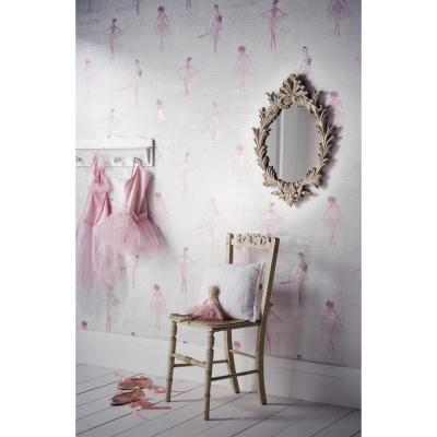 Pirouette Pink Wallcovering