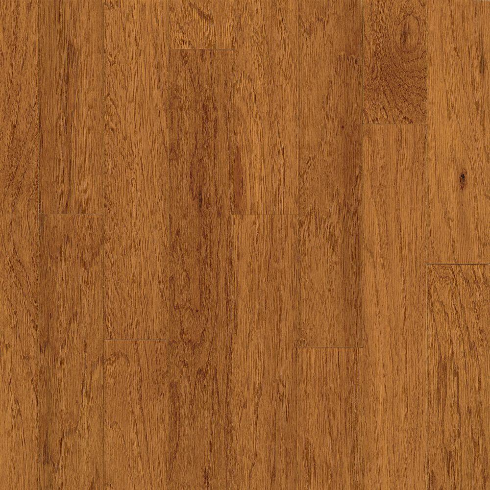 Bruce Take Home Sample - Town Hall Exotics Hickory Paprika Engineered Hardwood Flooring - 5 in. x 7 in.