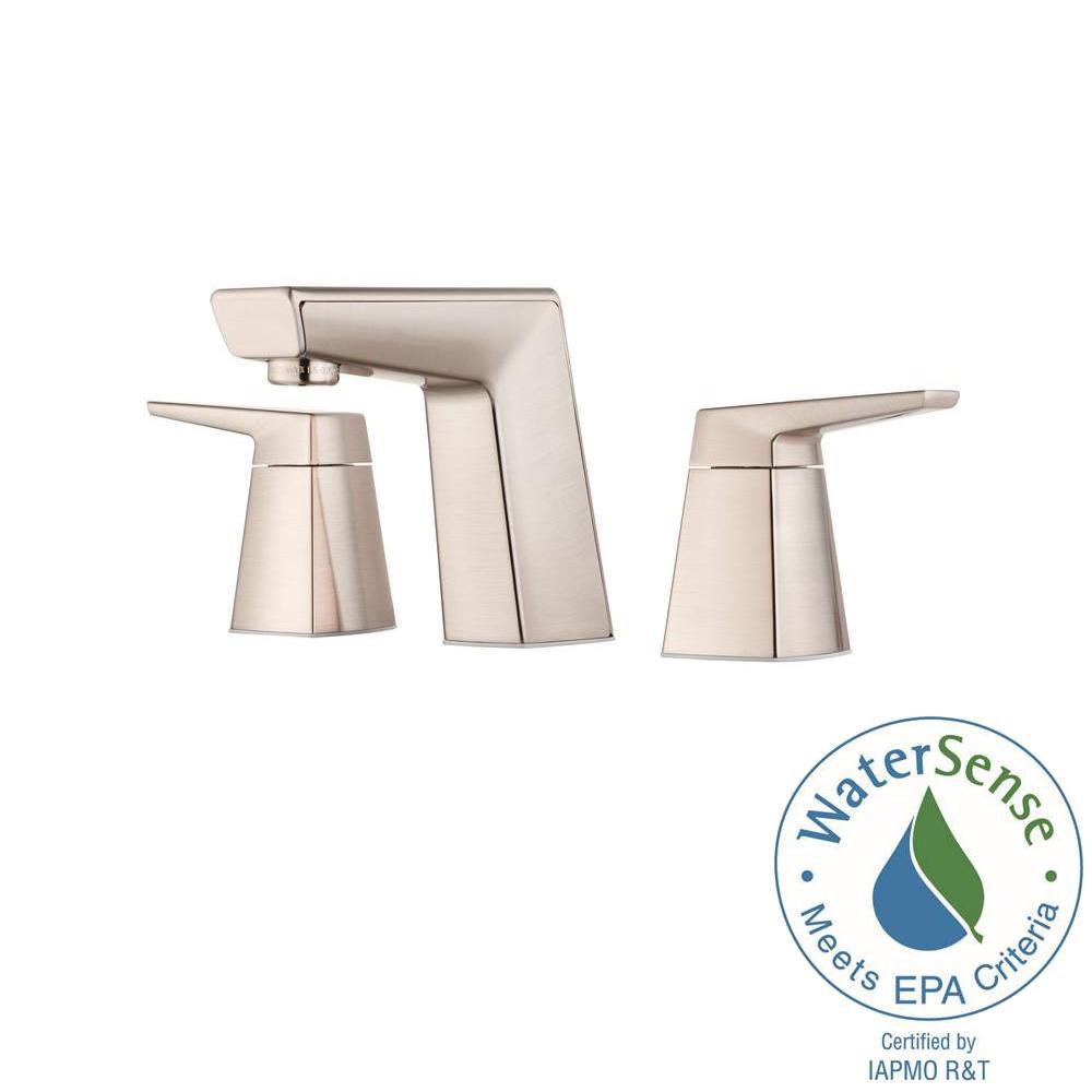Arkitek 8 in. Widespread 2-Handle Bathroom Faucet in Brushed Nickel