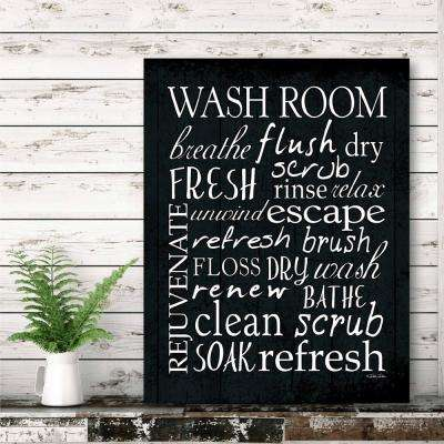 "16 in. x 20 in. ""Washroom"" Canvas Printed Wall Art"