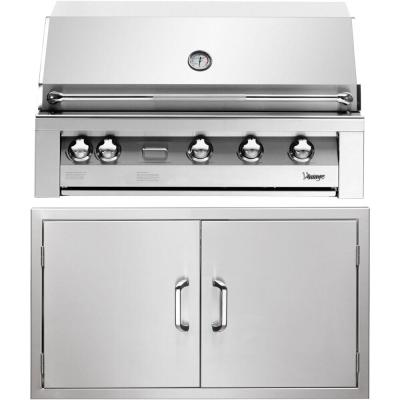 42 in. Built-In Natural Gas Grill in Stainless with Sear Zone and Double Access Doors