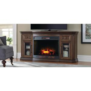 Home Decorators Collection Georgian Hills 65 inch Bow Front TV Stand Infrared Electric... by Electric Fireplaces
