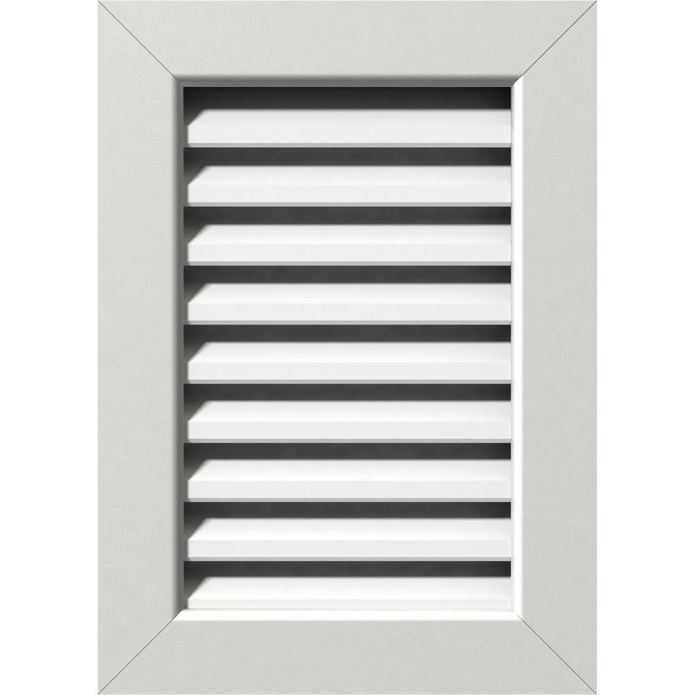 17 in. x 23 in. PVC Functional Vertical Gable Vent with