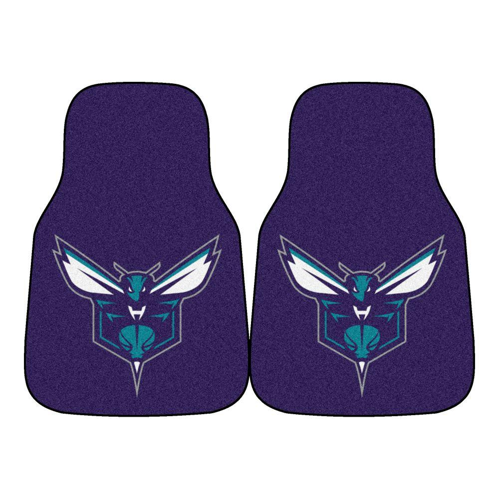 FANMATS Charlotte Bobcats 18 in. x 27 in. 2-Piece Carpeted Car Mat Set