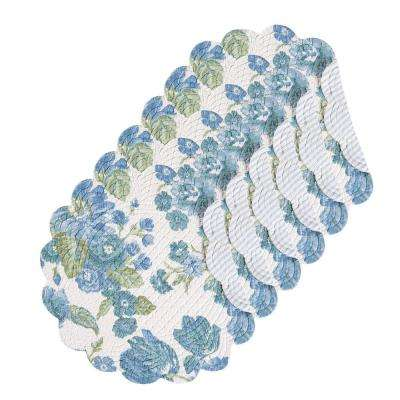 Laurel Round Blue Placemat (Set of 6)