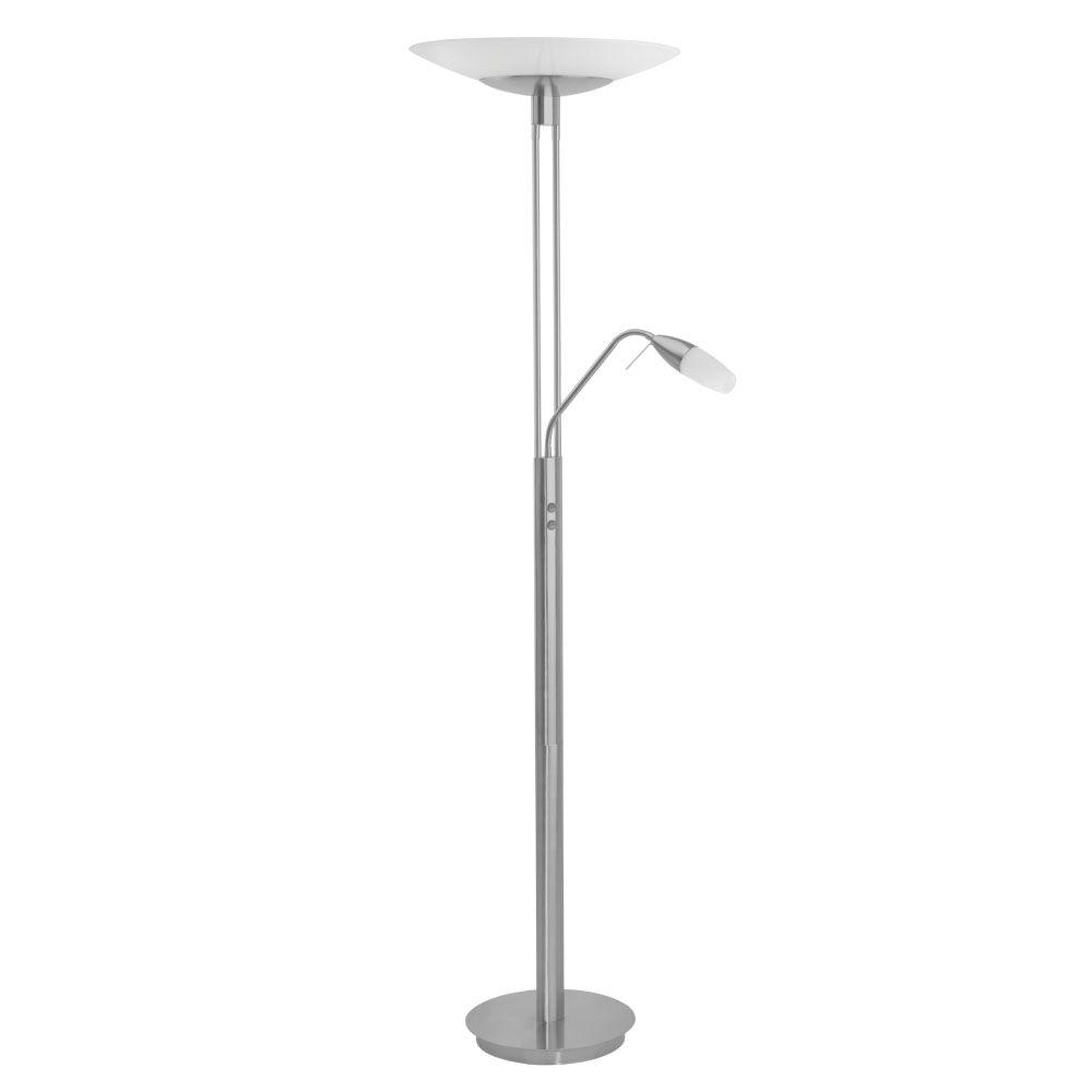 Eglo Turn 71 in. 3-Light Matte Nickel Floor Lamp