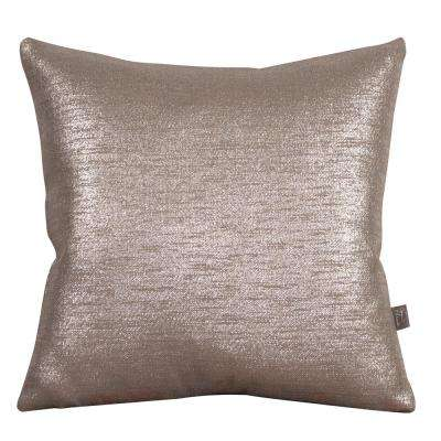 Glam Gray Pewter 20 in. x 20 in. Decorative Pillows