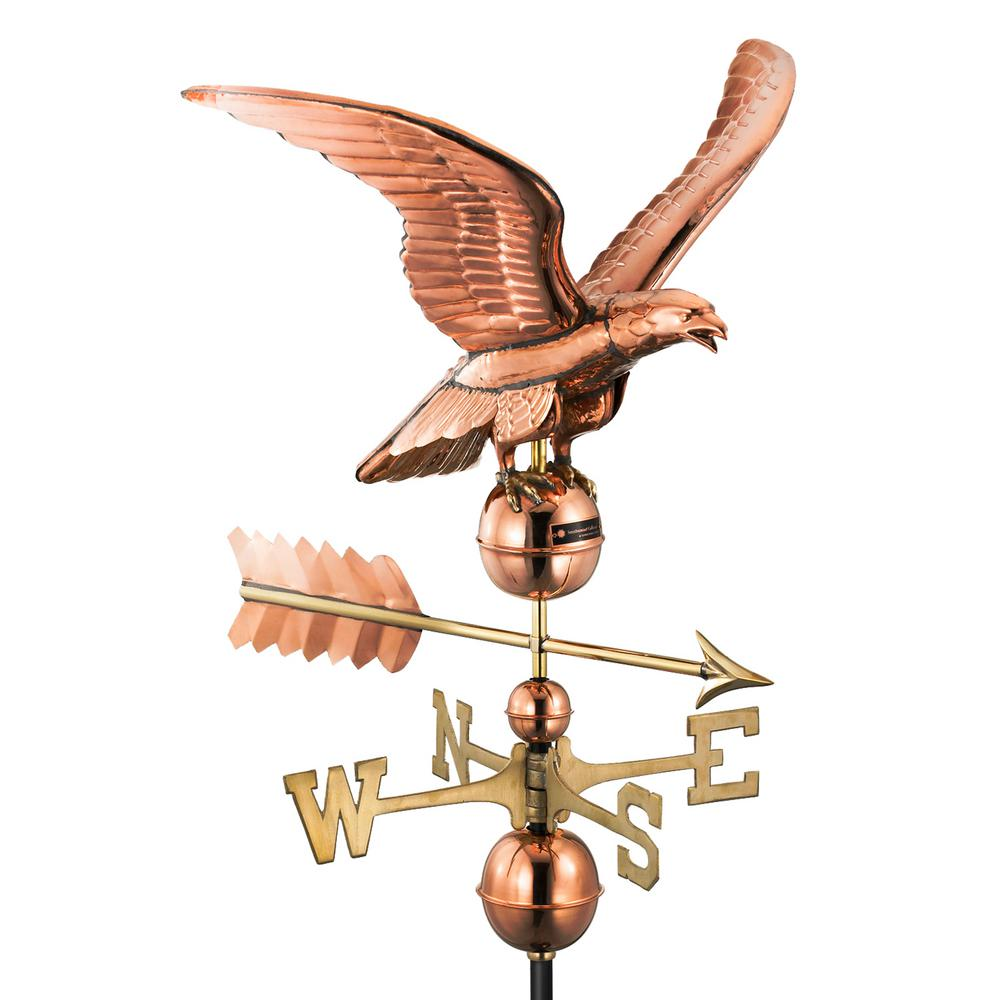 Good Directions Smithsonian Eagle Weathervane - Pure Copper