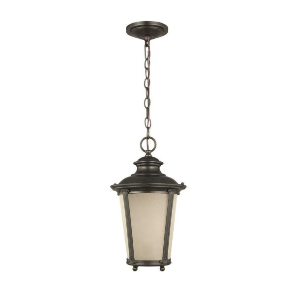 Cape May 1-Light Burled Iron Outdoor Pendant Light