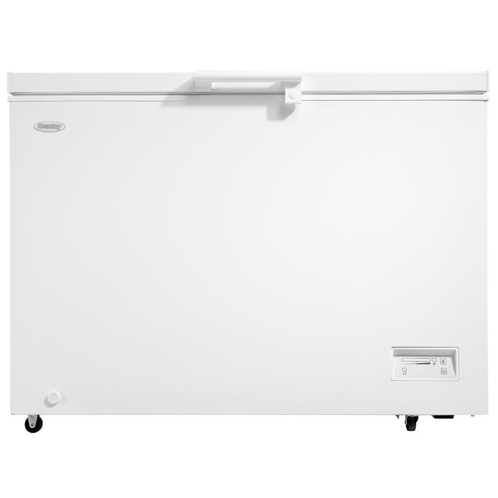 Danby 11 0 Cu Ft Chest Freezer In White Dcfm110b1wdb The Home Depot