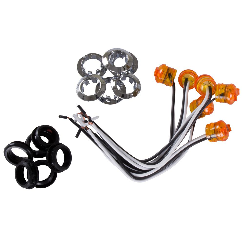 Blazer International Led Dome Utility Light C397s The Home Depot Hylite Id Bar Trailer Wiring Lighting Trailering Clearance Lght Amber 6 Piece Per Bag