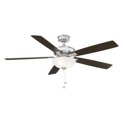 Blakeford 60 in LED Brushed Nickel DC Motor Ceiling Fan with Light