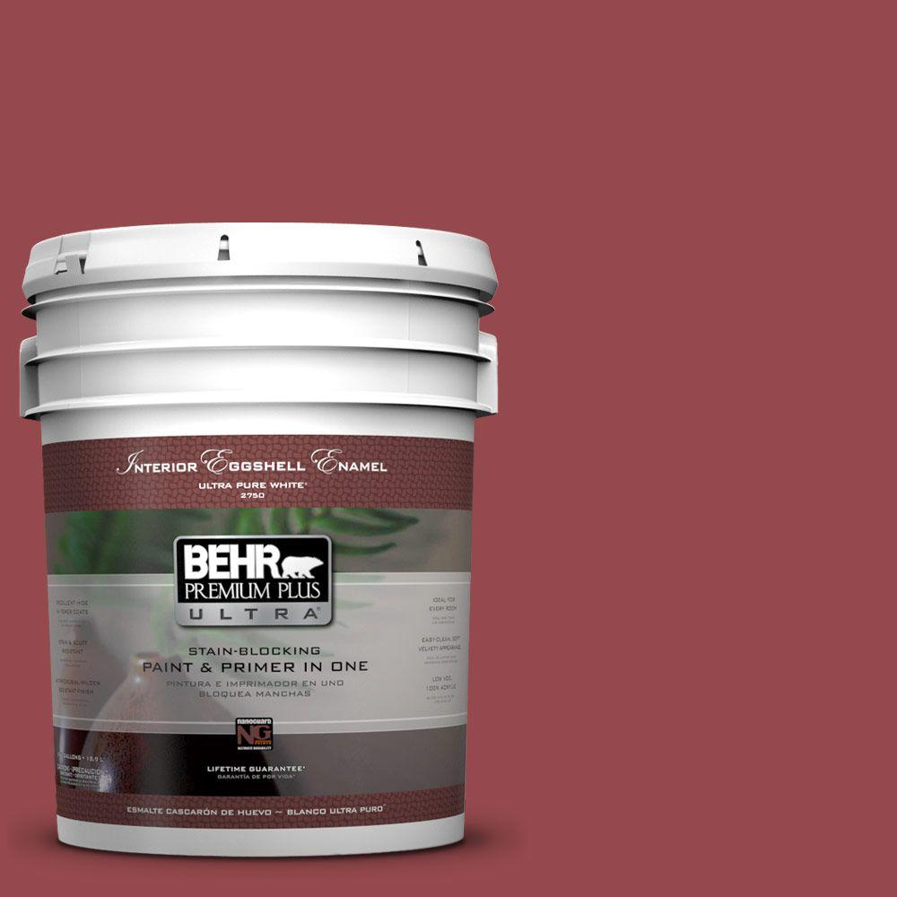 BEHR Premium Plus Ultra 5-gal. #M140-6 Circus Red Eggshell Enamel Interior Paint