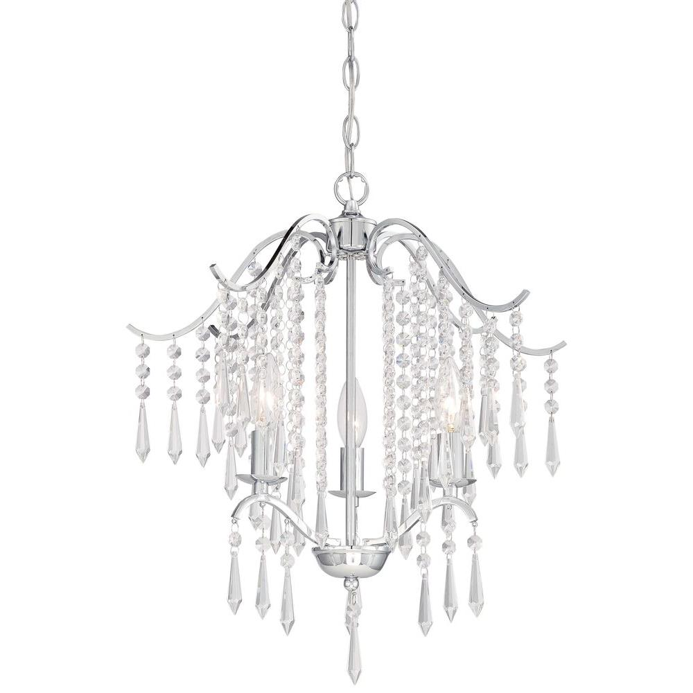 Minka lavery 3 light chrome mini chandelier 3151 77 the home depot minka lavery 3 light chrome mini chandelier aloadofball Images