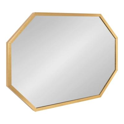Laverty 36 in. x 24 in. Classic Octagon Framed Gold Wall Accent Mirror