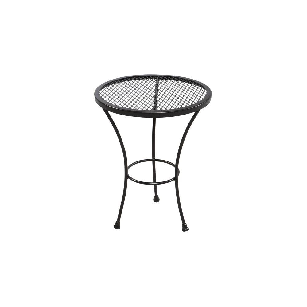 outdoor side tables patio tables the home depot rh homedepot com metal patio side table with metal mesh patio side table