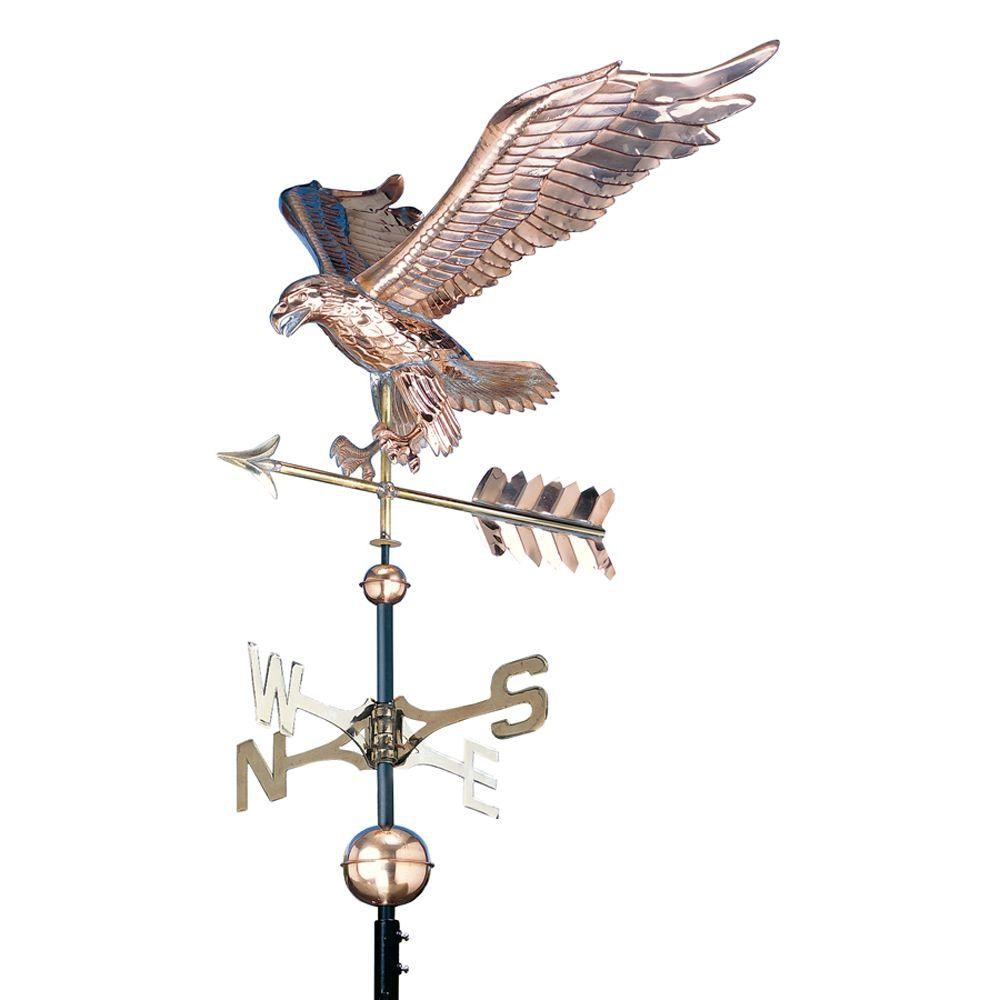 48 in. Polished Eagle Copper Weathervane