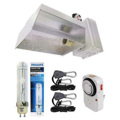 315-Watt Ceramic Metal Halide CMH Open Style Complete Grow Light System with Philips Full Spectrum 315W 3100K Lamp