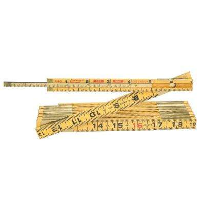 6 ft. Wood Ruler Red End with Hook