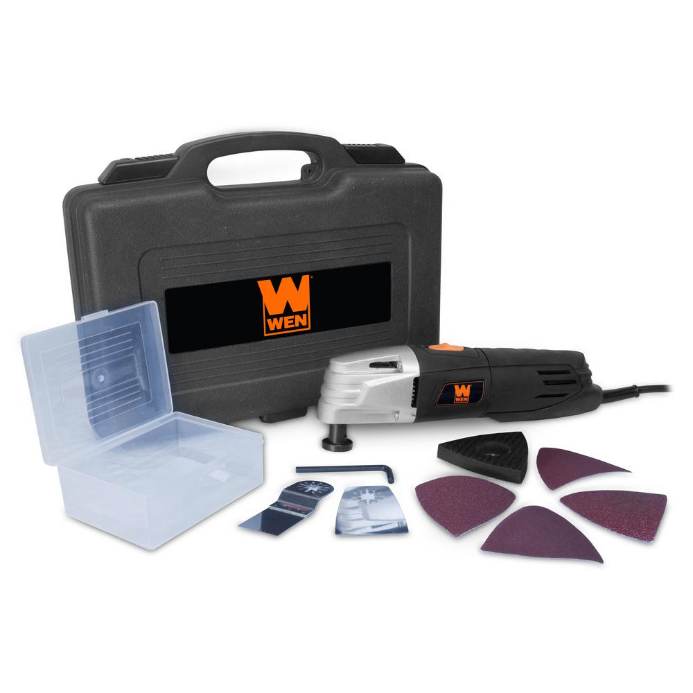 WEN 2 Amp Variable Speed Oscillating Multi-Function Tool Kit with Storage Case