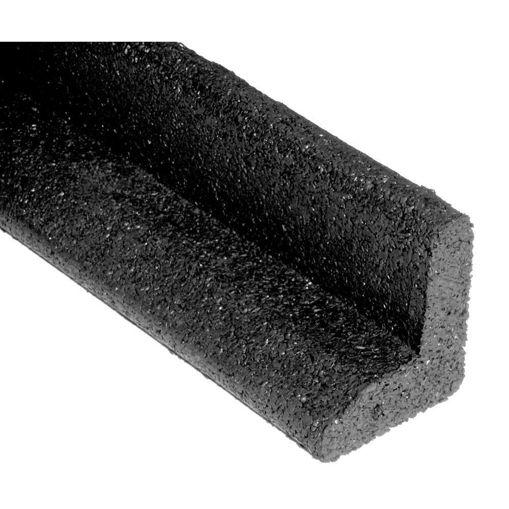 EcoBorder 4 ft. Black Rubber Landscape Edging (6-Pack)