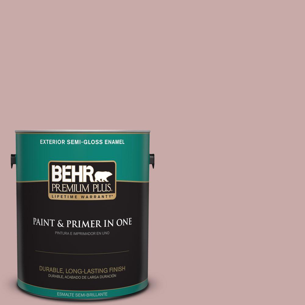 1-gal. #130E-3 Rosy Tan Semi-Gloss Enamel Exterior Paint