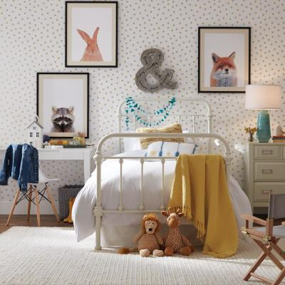 28.18 sq. ft. Gold Dot Peel and Stick Wallpaper