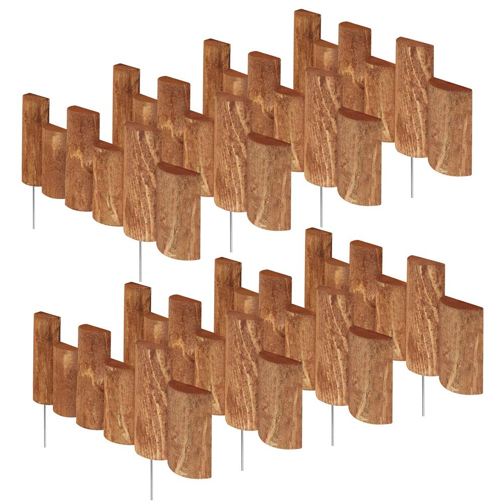 Greenes Fence 18 in. Half Log Edging (8-Pack)