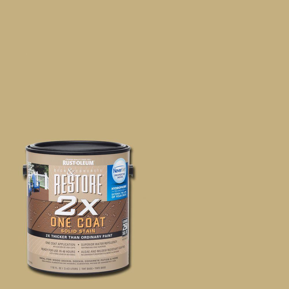 1 gal. 2X Camel Solid Deck Stain with NeverWet