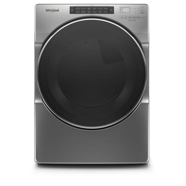 7.4 cu. ft. 240-Volt Chrome Shadow Stackable Electric Dryer with Steam and Wrinkle Shield Plus Option, ENERGY STAR