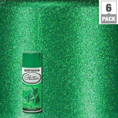 10.25 oz. Kelly Green Glitter Spray Paint (6-Pack)