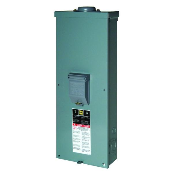 QO 200 Amp 2-Pole Outdoor Circuit Breaker Enclosure with QOM2200VH Breaker