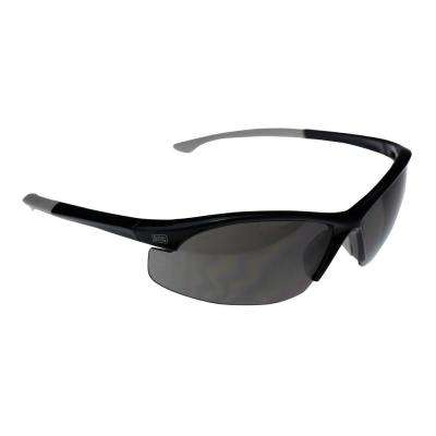 Flex Tip, Slim Frame Safety Glasses with Smoke Lens