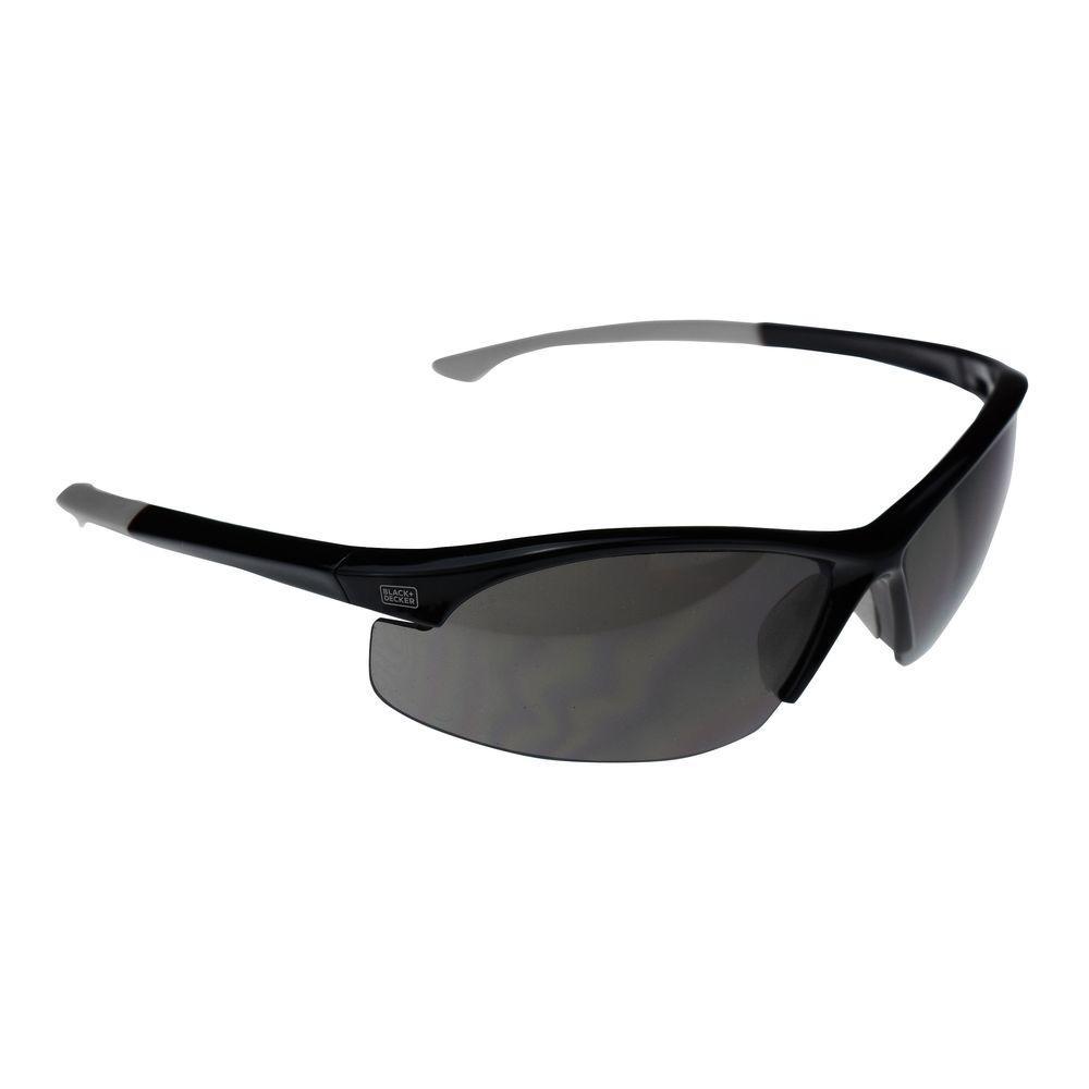 Flex Tip, Slim Frame Safety Glasses with Smoke Lens