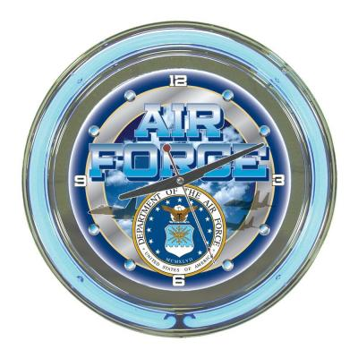 14 in. United States Air Force Neon Wall Clock