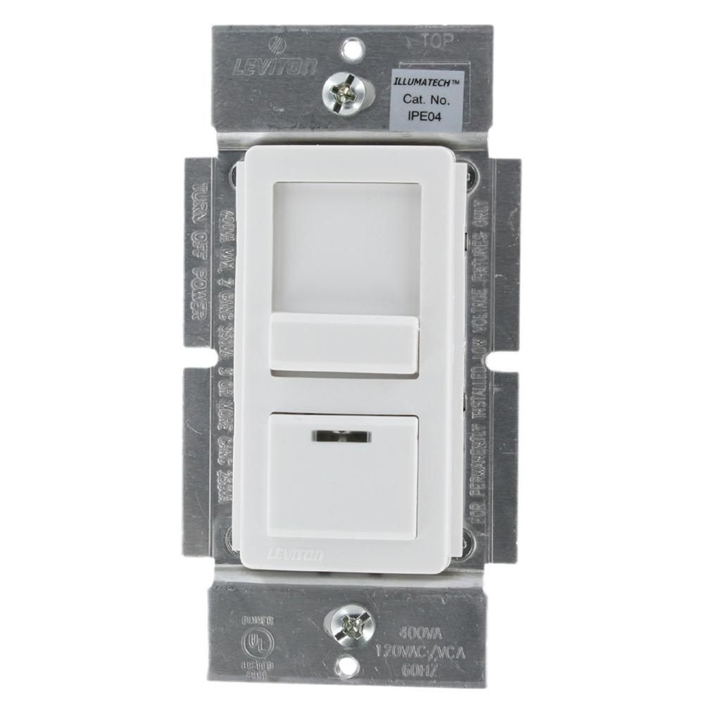 Dimmers dimmers switches outlets the home depot illumatech 400va 300w preset electronic low voltage slide dimmer single pole sciox Choice Image