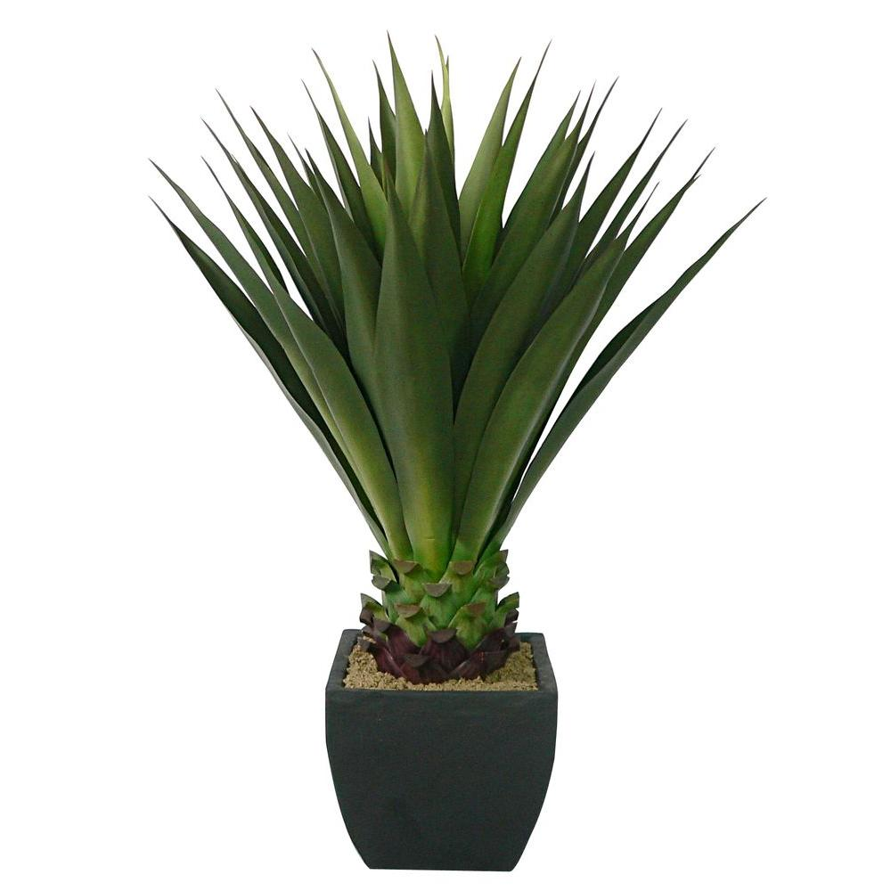 43 in. Tall High End Realistic Silk Giant Aloe Plant with