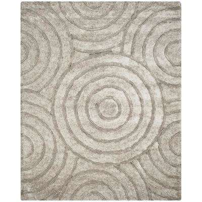 Nice South Beach Shag Silver 8 Ft. X 10 Ft. Area Rug