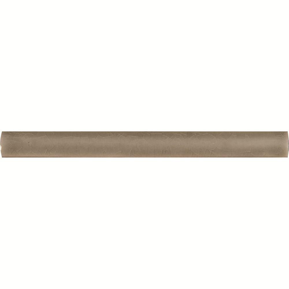 MSI Dove Gray Quarter Round Molding 5/8 in. x 6 in. Glazed Ceramic Floor and Wall Tile (2.5 lin. ft. / case)