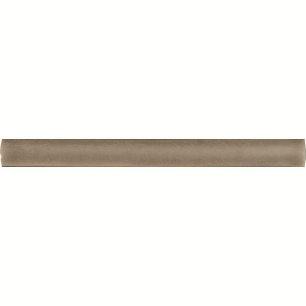 Dove Gray Quarter Round Molding 5/8 in. x 6 in. Glossy Ceramic Floor and Wall Tile (2.5 lin. ft. / case)