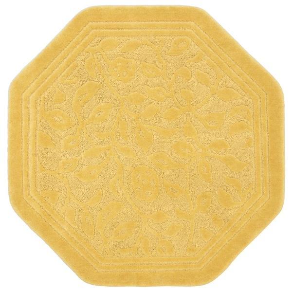 Mohawk Home Wellington 48 in. x 48 in. Nylon Bath Rug in Gold