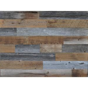 Reclaimed wood brown and gray 3 8 in thick x 3 5 in w x for Reclaimed wood dc