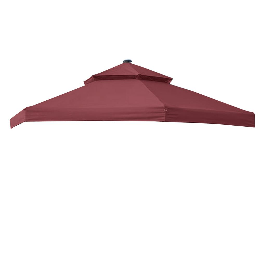 Garden Winds RipLock 350 Nutmeg Replacement Canopy For 10 Ft. X 10 Ft. Solar