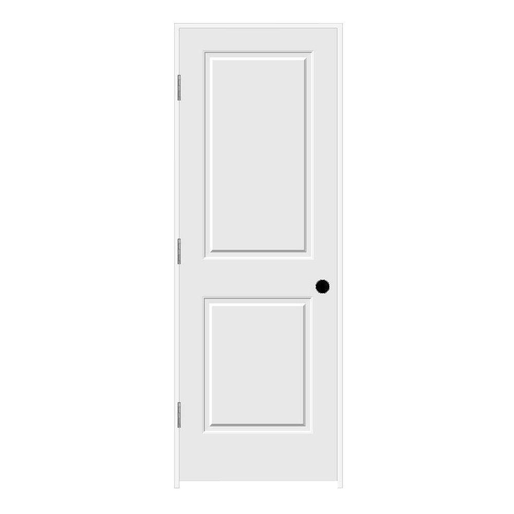 Jeld Wen 28 In X 80 In Primed Right Hand C2020 2 Panel Square Top Premium Composite Single
