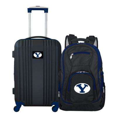 NCAA Brigham Young Cougars 2-Piece Set Luggage and Backpack
