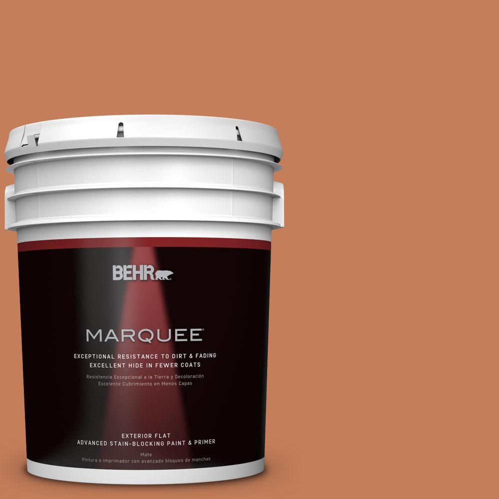 5-gal. #M210-6 Orange Liqueur Flat Exterior Paint