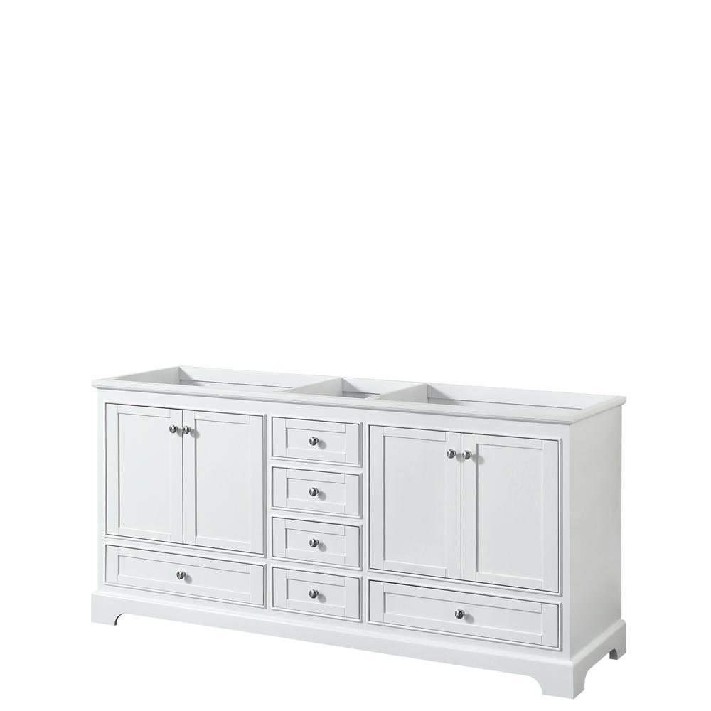 Deborah 71 in. W x 21.5 in. D Vanity Cabinet in White