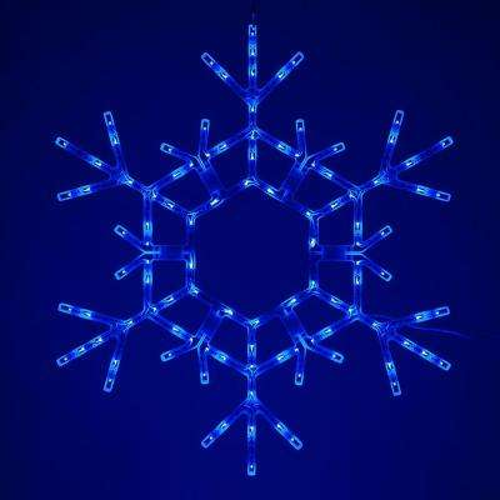 36 in. 105-Light LED Blue Folding Snowflake Decoration